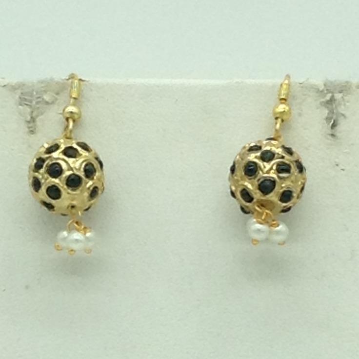 Green CZ Balls Graded Necklace Set JNC0130