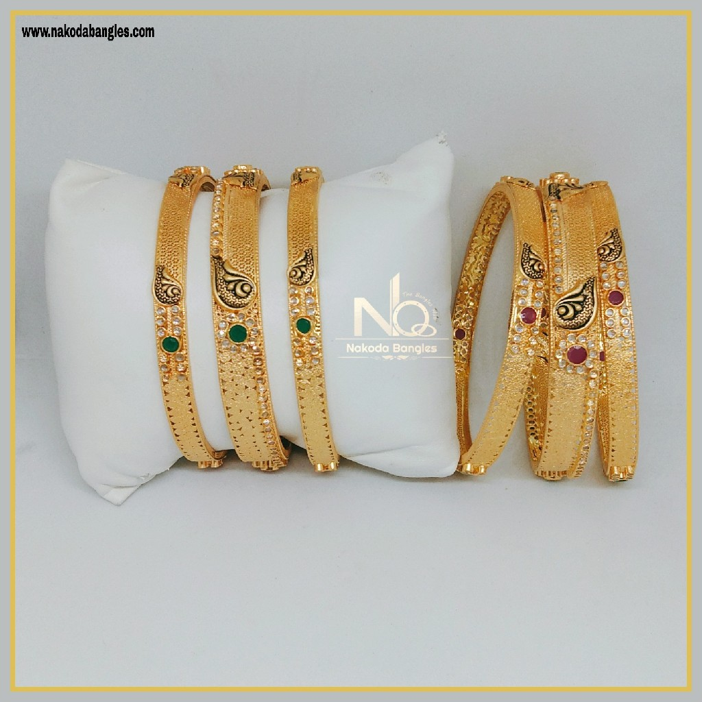 916 Gold Patla Bangles NB-298