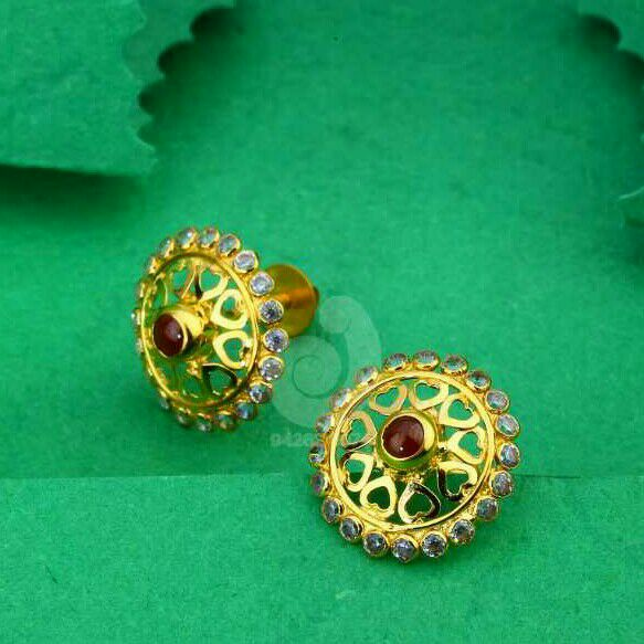 18ct Cz Red Stone Tops