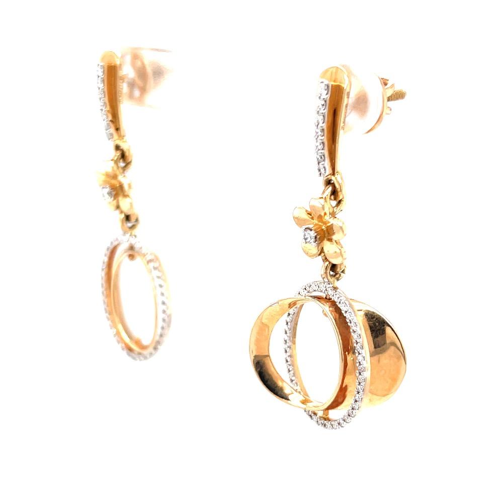 Étonnante dangling earrings with centre piece flower 8top123