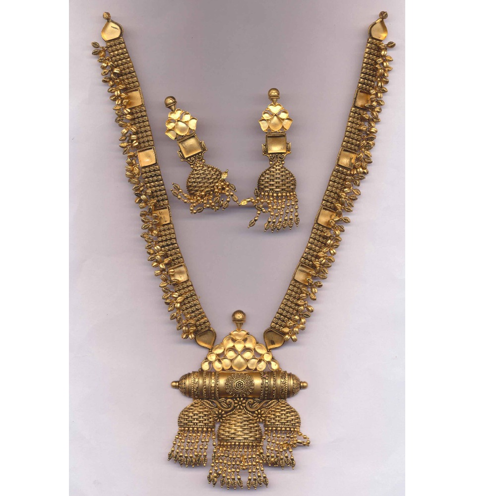 22Kt Gold Antique Bridal Hanihar PJ-N012