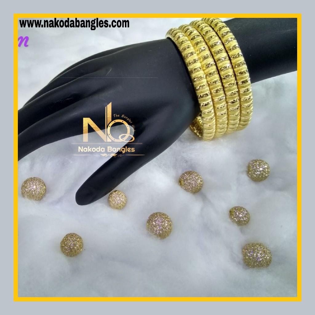 916 Gold Patra Bangles NB - 595