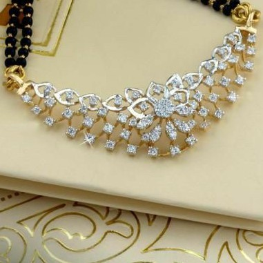 18KT Yellow Gold fancy Bridle Mangalsutra For Ladies MSG1015