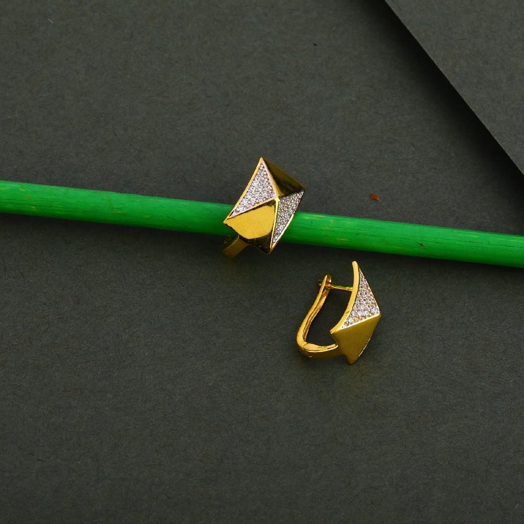 750 Gold Cz Exclusive Earring Bali LFB112