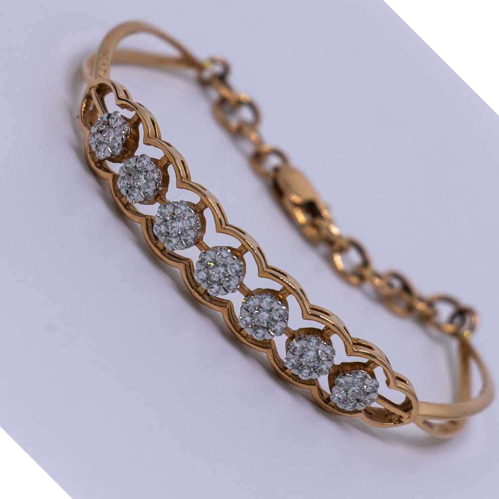 18K gold diamond bracelet agj-br-49