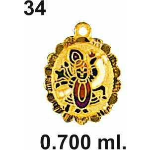 22KT Gold Shrinathji Pendant DC-P034