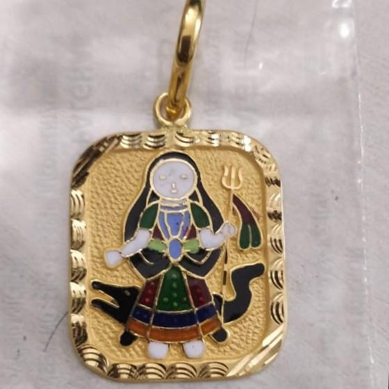 Khodiyar ma gold minakari pendant