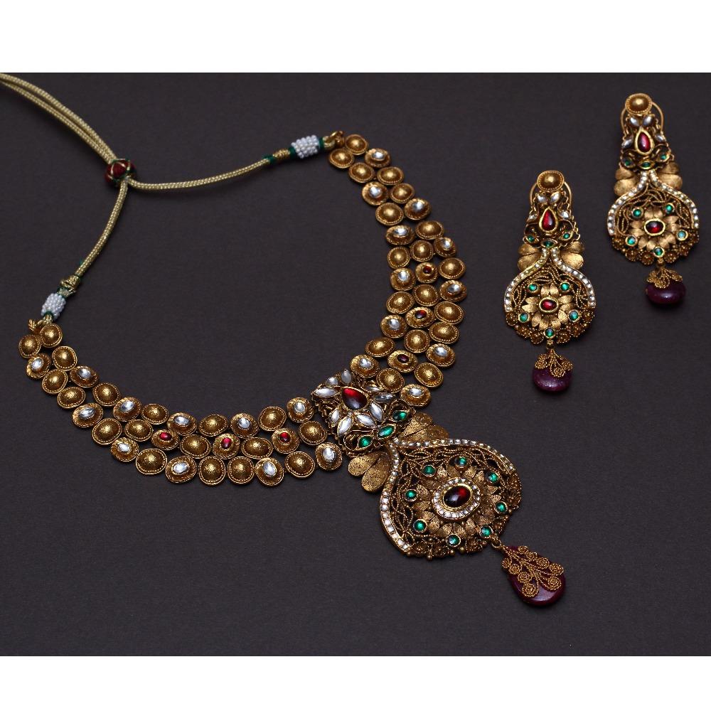 916 Gold Wedding Necklace Set VJ-N002