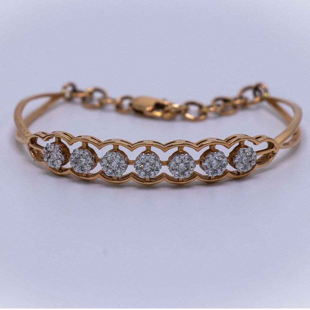 18k  gold diamond bracelet agj-lb-49