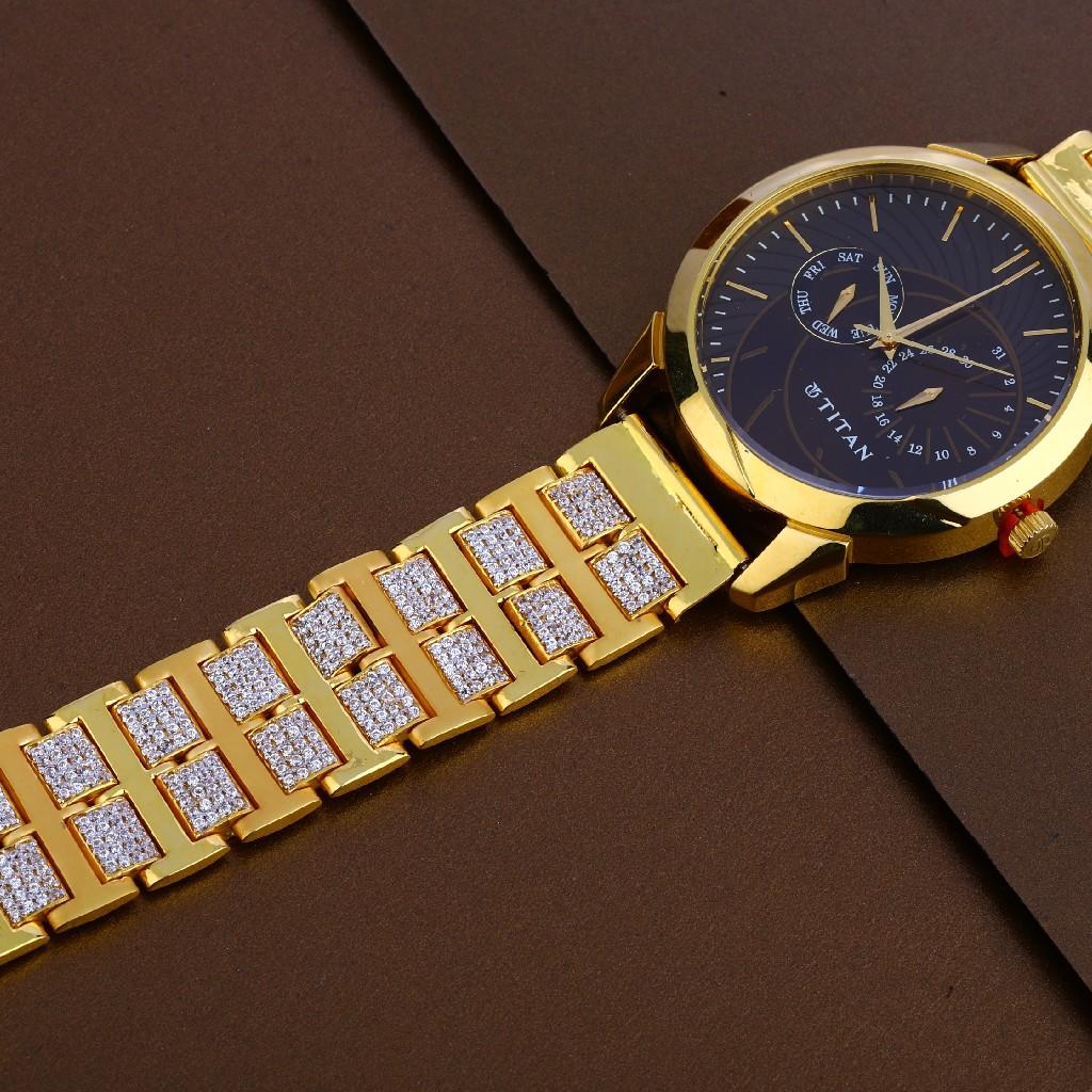 916 gold mens stylish  watch mw24