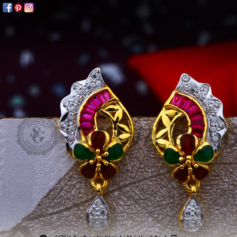 916 gold earrings sge-0038