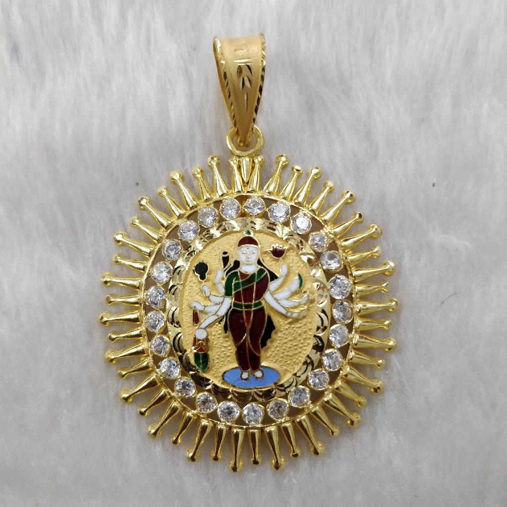 916 Gold Fancy Gent's Sadhi Maa Pendant