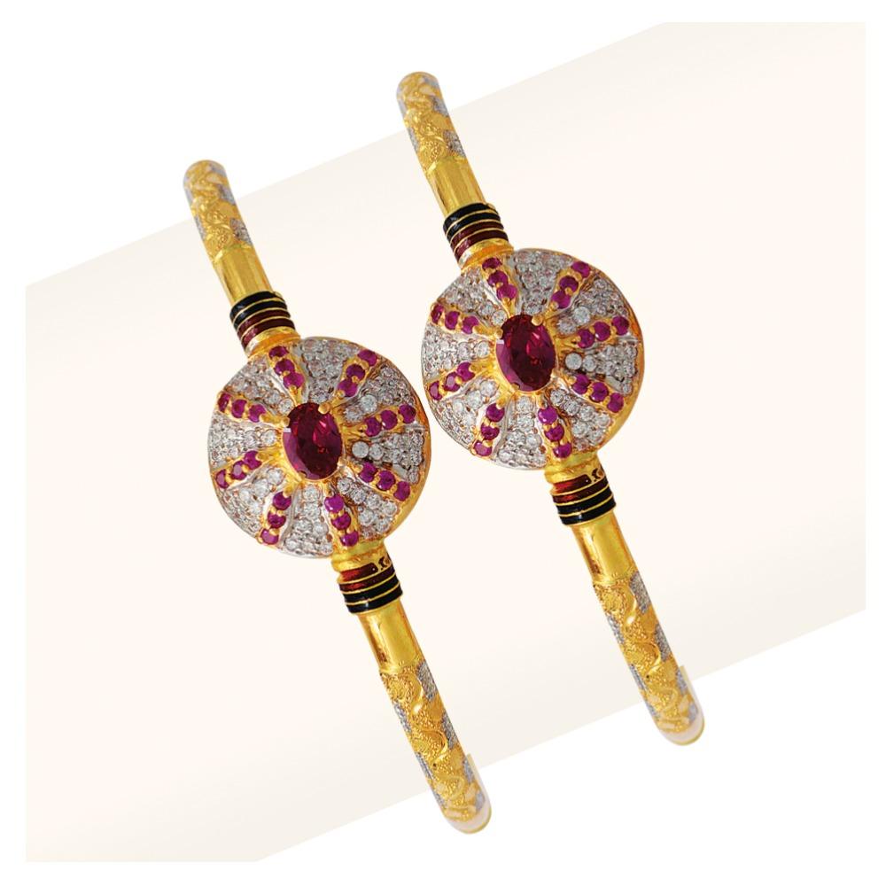 916 Gold Single Pipe Manka Modhiya Copper Kadli RJSP-049