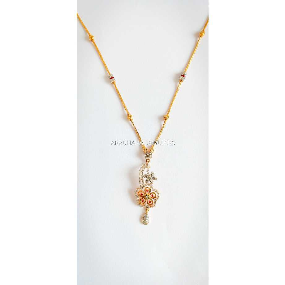 916 gold Diamond chain set with tops
