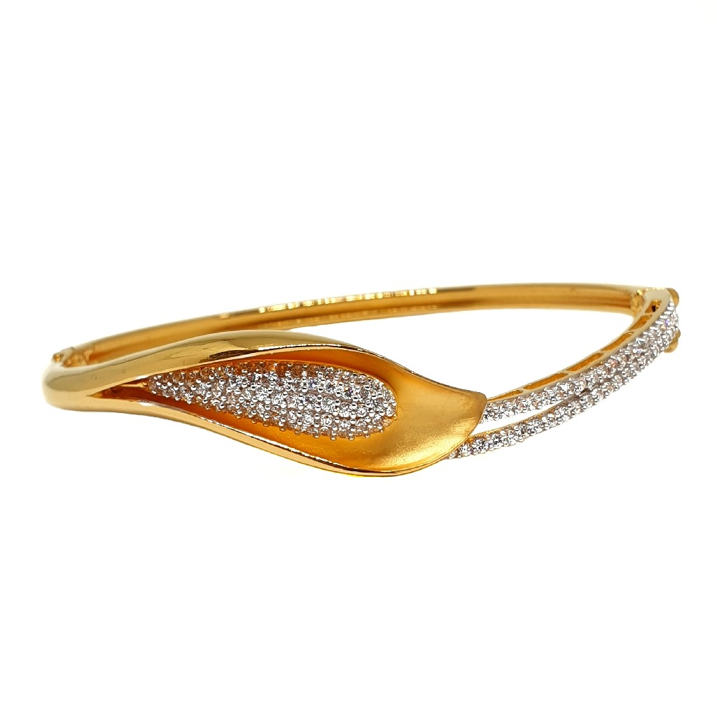 22K Gold Designer CZ Diamond Bracelet MGA - BRG003...