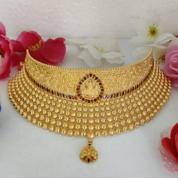 22 ct gold bridal set (choker)