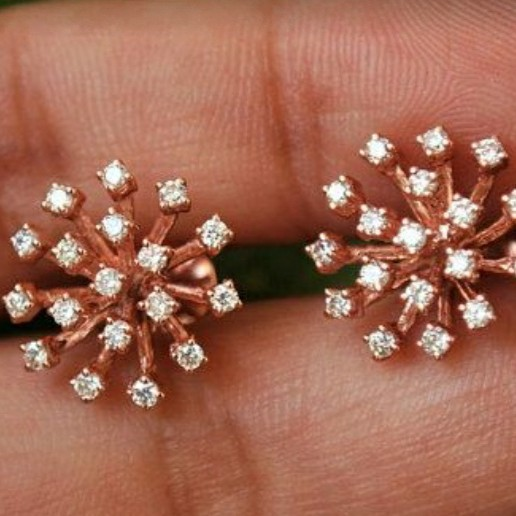 18KT Rose gold fancy daily ware Earrings for Ladies BTG1001