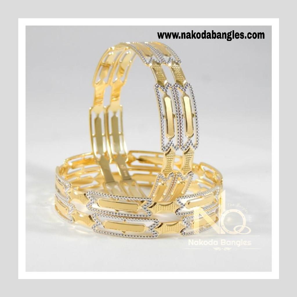 916 Gold CNC Bangles NB - 705