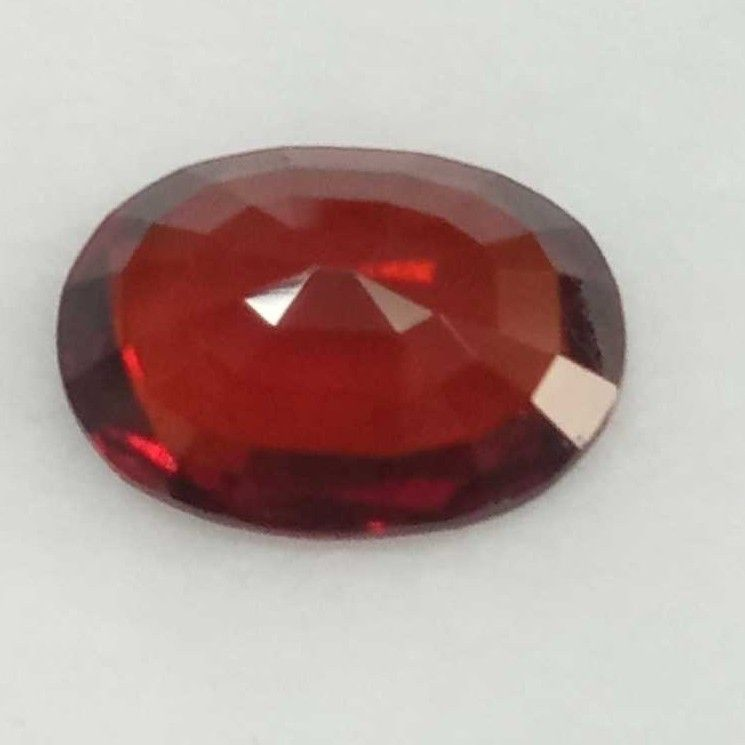 6.36ct oval brown hessonite-gomed