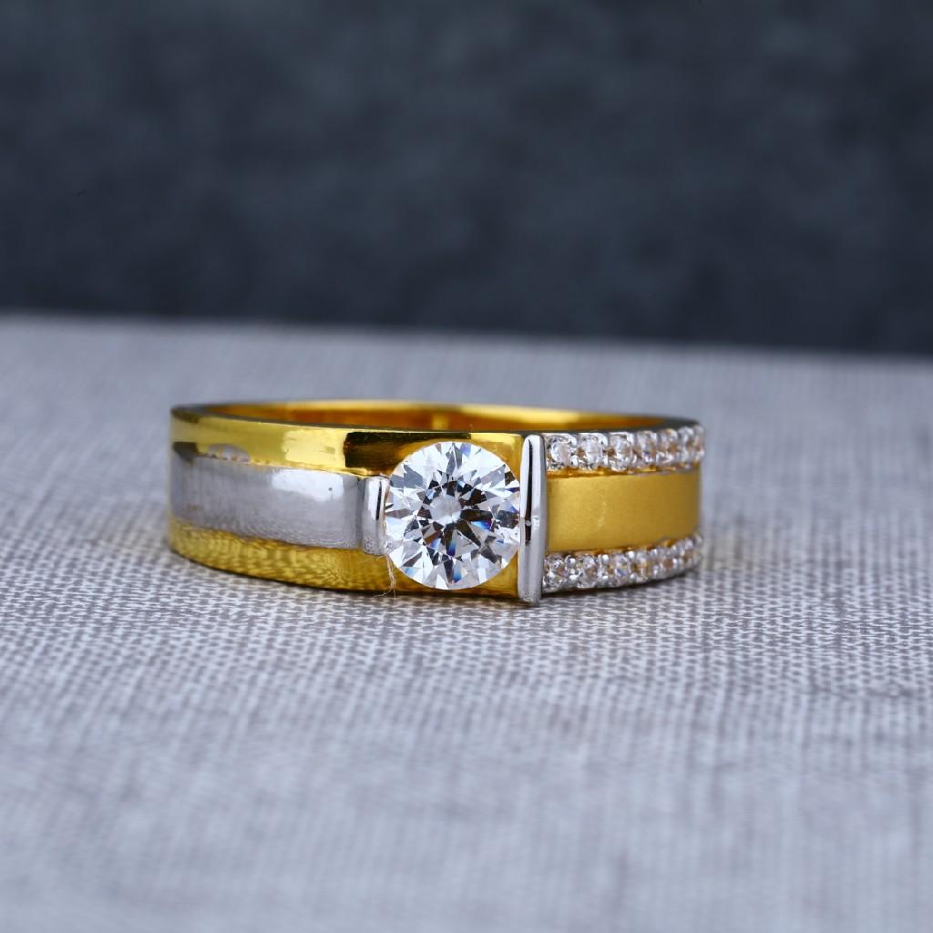Mens designer 916 solitaire engagement gold ring -msr06