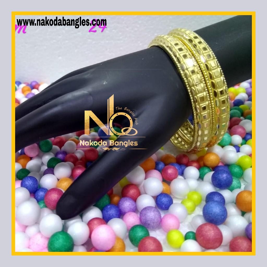916 Gold Patra Bangles NB - 589