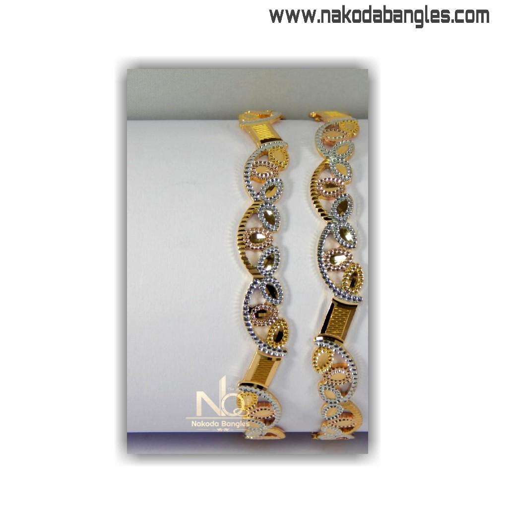 916 gold cnc bangles nb - 1411