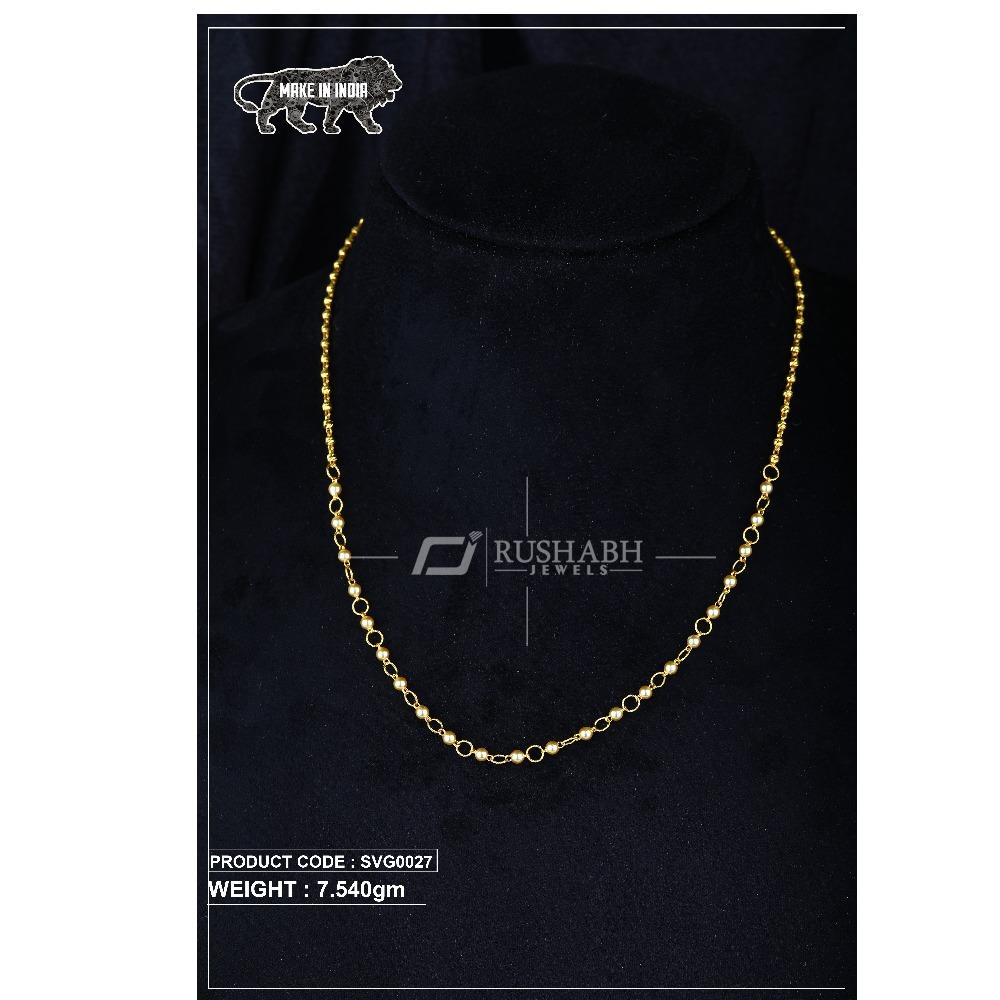 22 Carat 916 Gold Ladies swarovski Moti mala svg0027