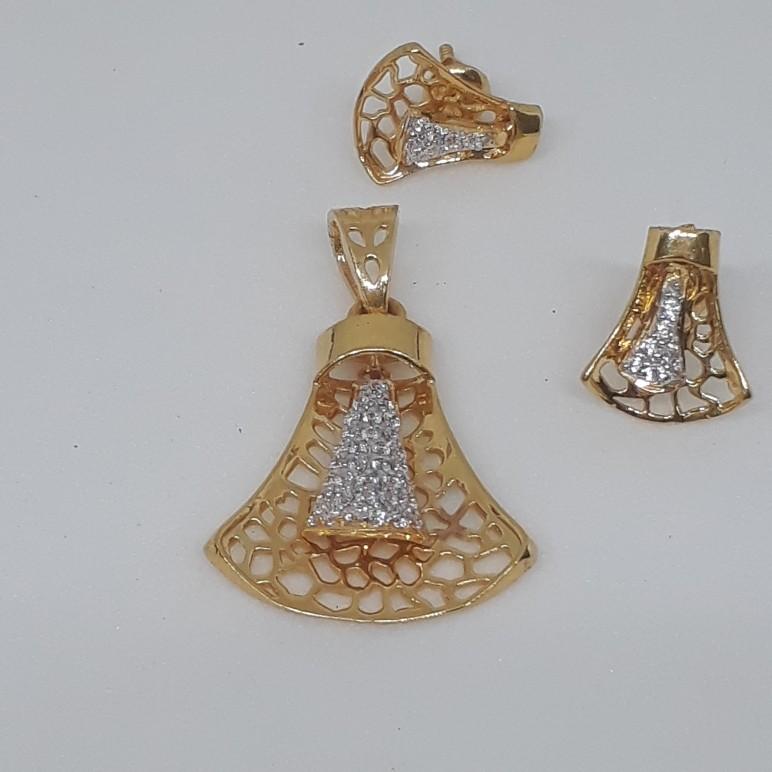 22ct Diamond Pendant Set ps/1762/7