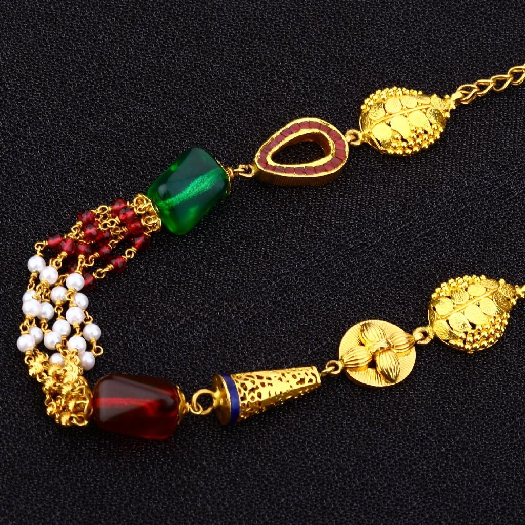 22kt Gold Antique Chain Mala AC153