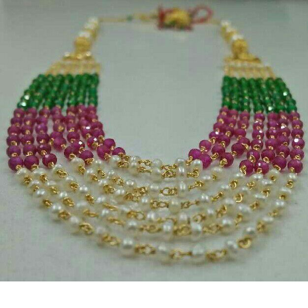 22KT Gold Colorful Beaded Harram