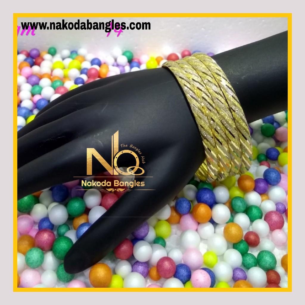 916 Gold Patra Bangles NB - 591