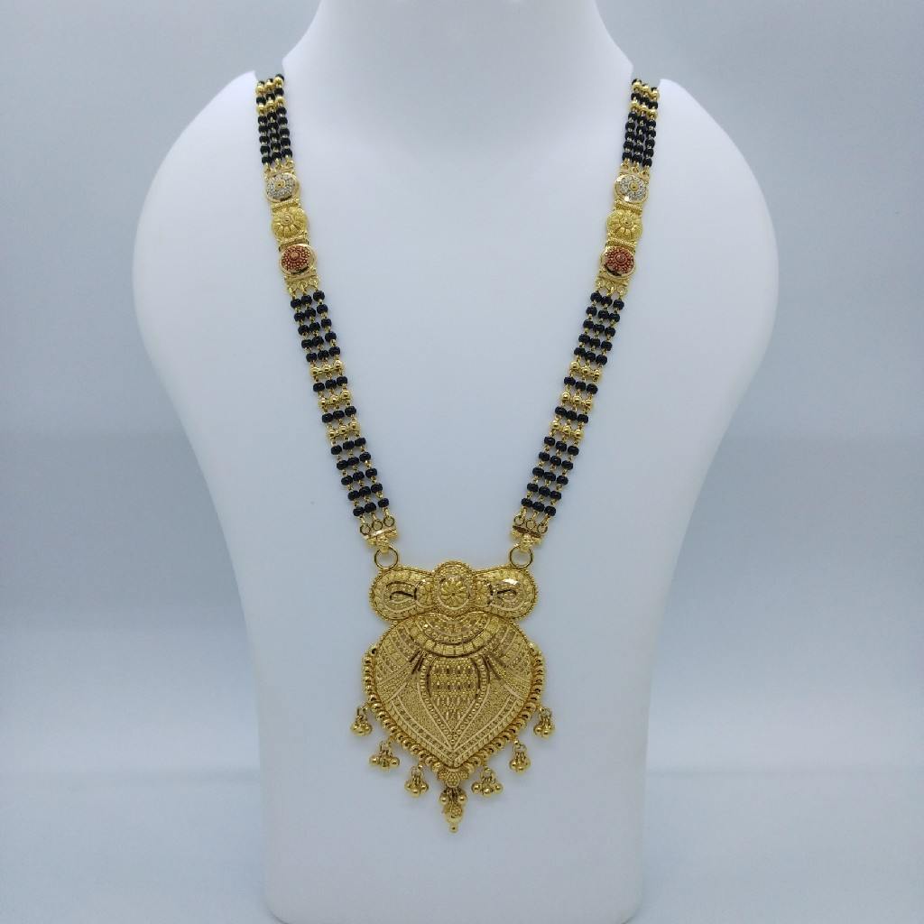 916 gold kolkati fancy mangalsutra tj-033