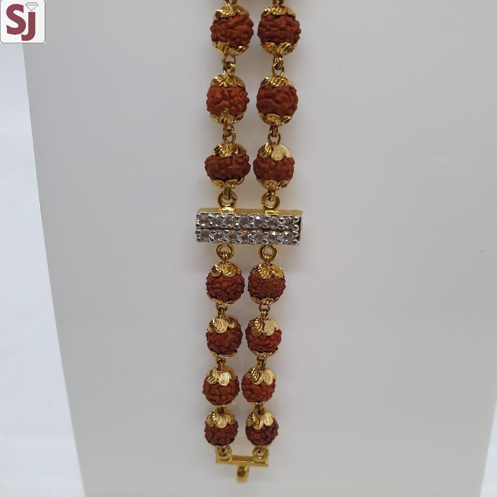 2 Line Om Rudraksh Lucky RLG-0037 Gross Weight-21.100 Net Weight-18.900