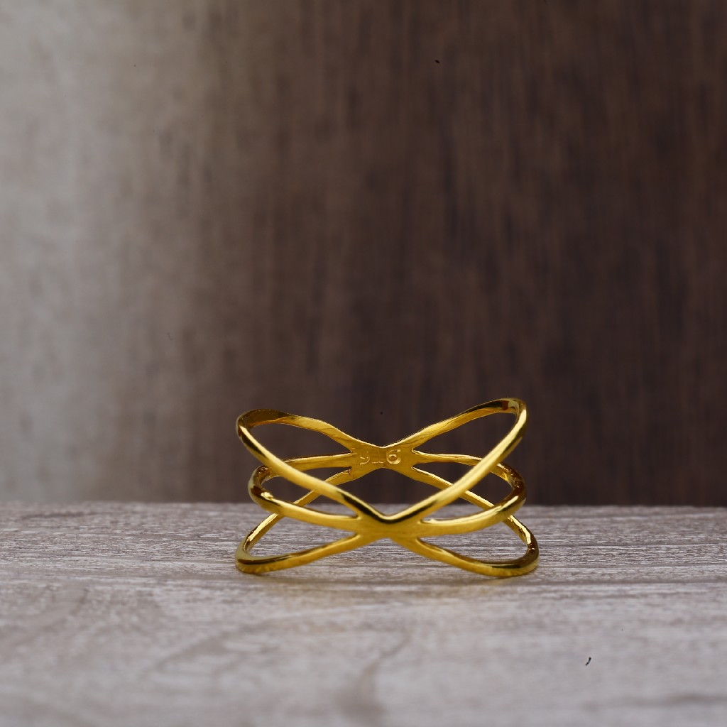 Ladies 22K Plain Gold Fancy Ring-LPR161