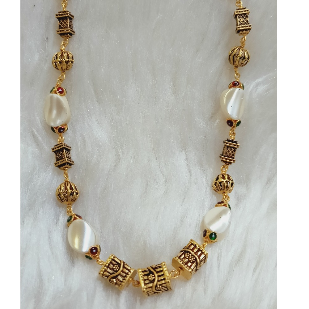 22 KT HANDCRAFTED ANTIQUE MALA