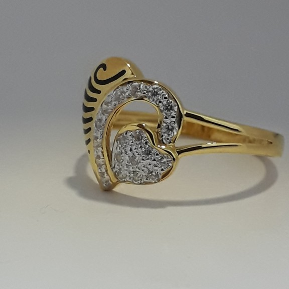 916 heart shape fancy carving ring