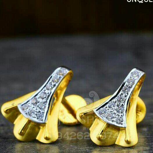 18kt Unique Designer Plain Cz Gold Ladies Tops ATG -0247