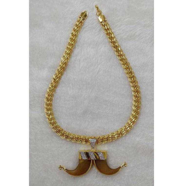 22KT Gold Artificial Vagh Nakh Gents Chain