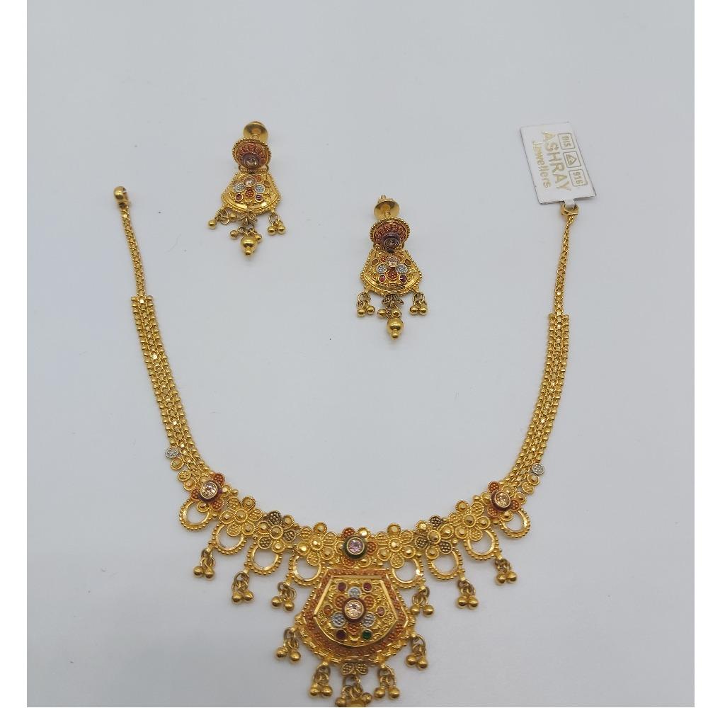 Gold fancy Necklace Set