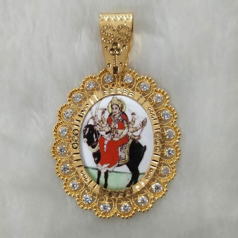 916 Gold Fancy Gent's Meladi Maa Photo Frame Pandal