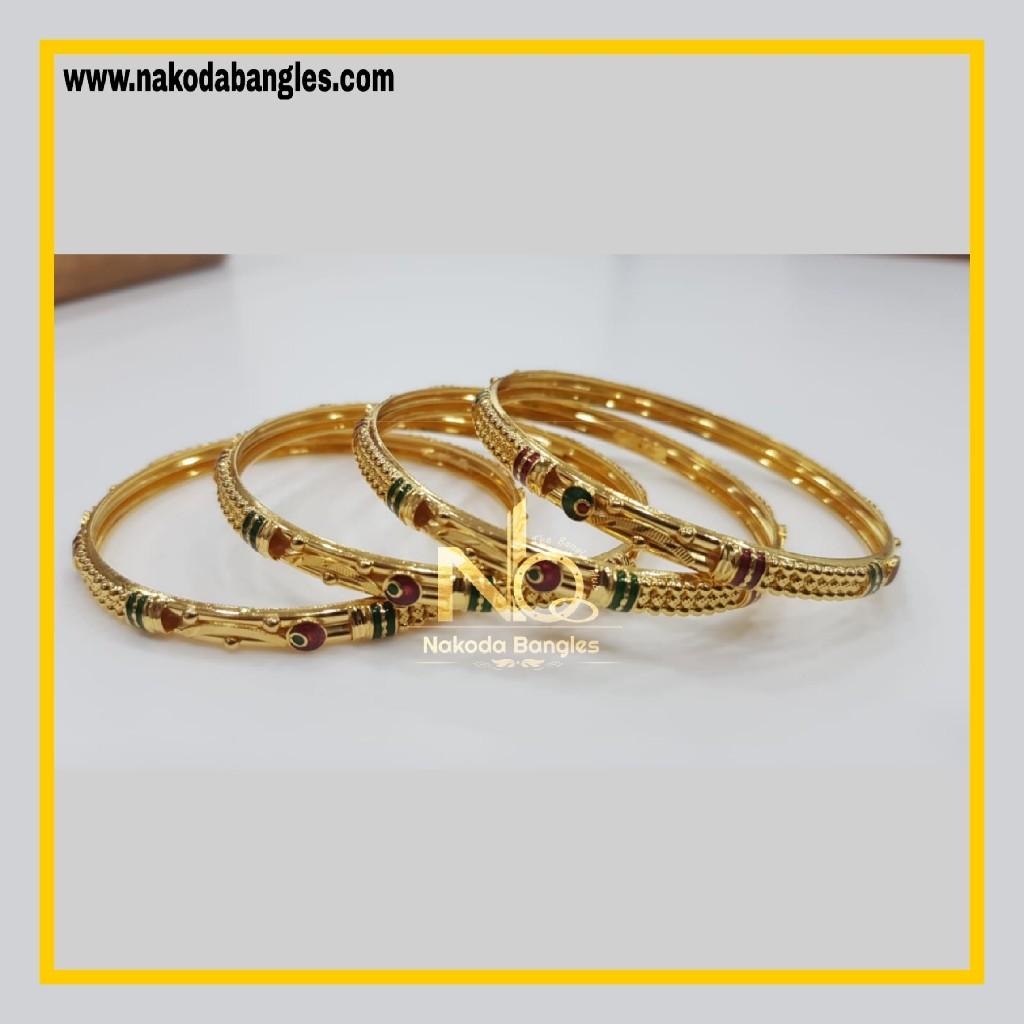 916 Gold Patra Bangles NB - 774