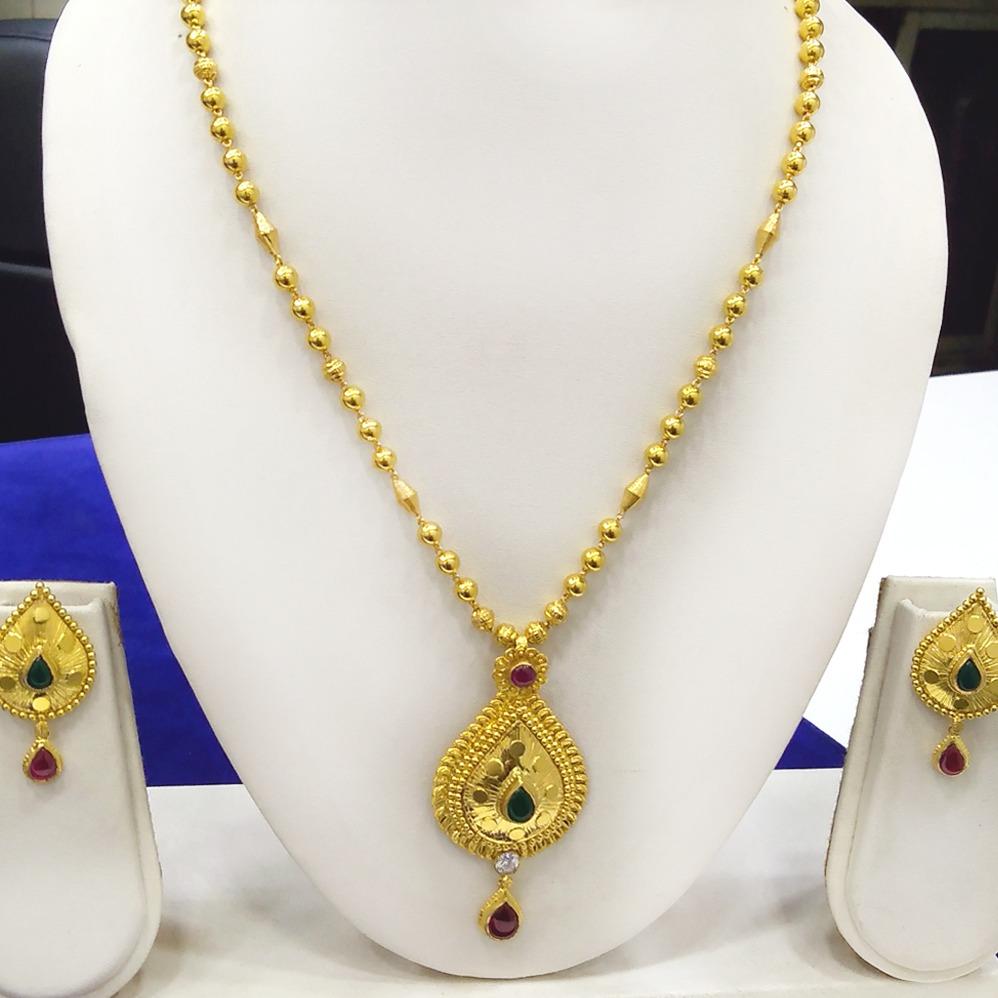 916 Gold Long Necklace Set RJ-N012