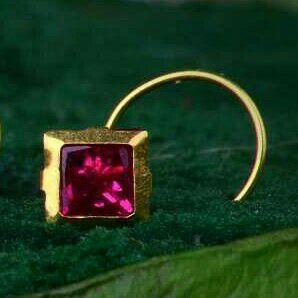 18kt Gold Fancy Nosepin