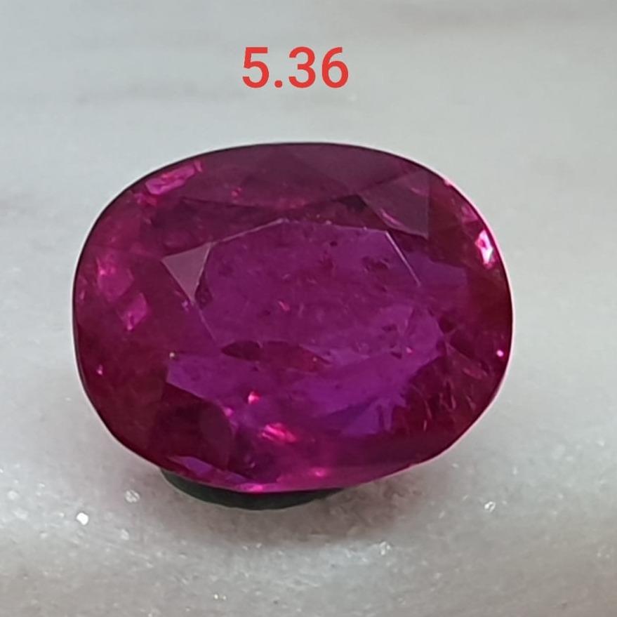 5.36ct Round Pink Ruby VG-R36