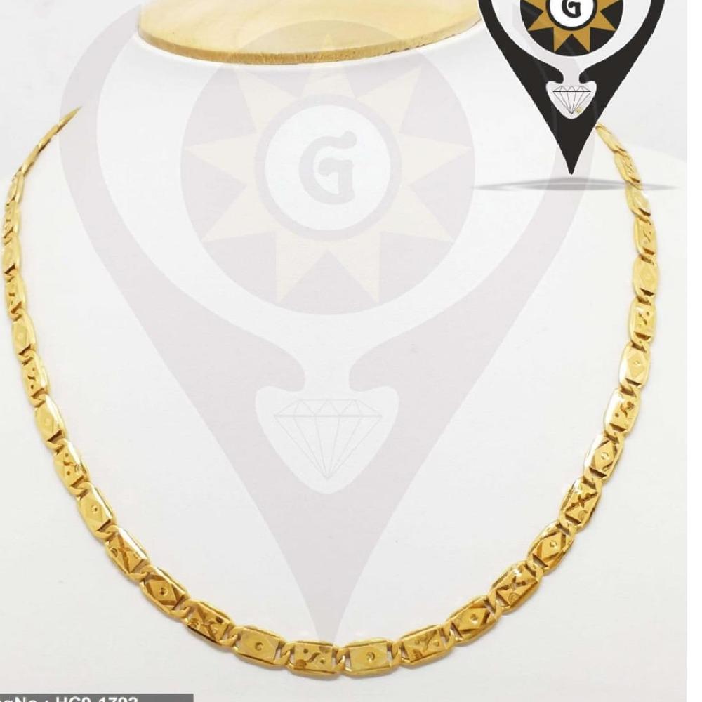 22KT Gold Hallmark Plated Stylish Chain