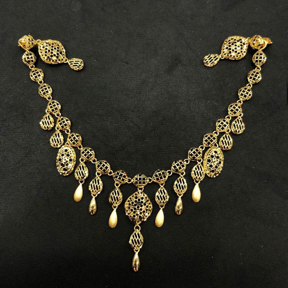 22K Gold Antique Turkish Design Necklace Set