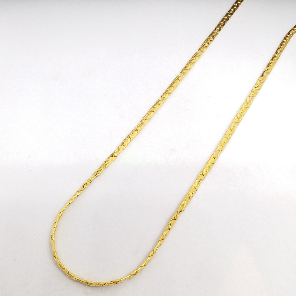 22 KT 916 Hallmark Gold Plain unisex Chain