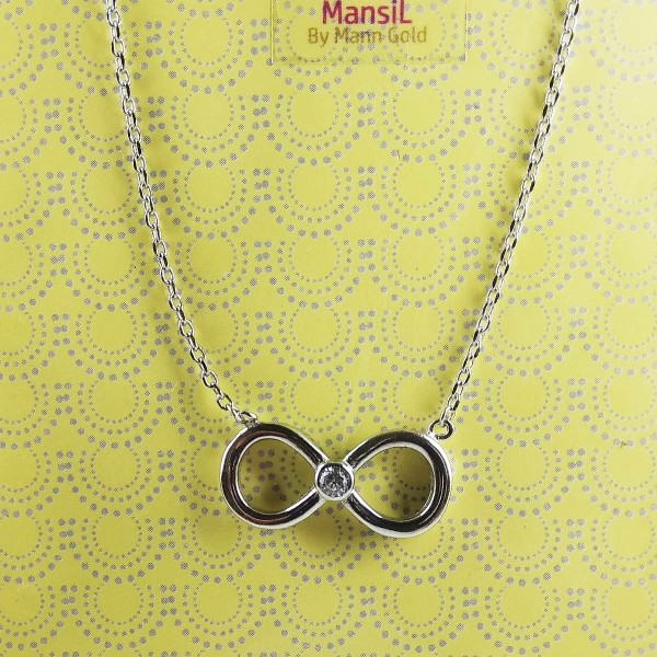 New infinity designed 925 sterling silver chain set