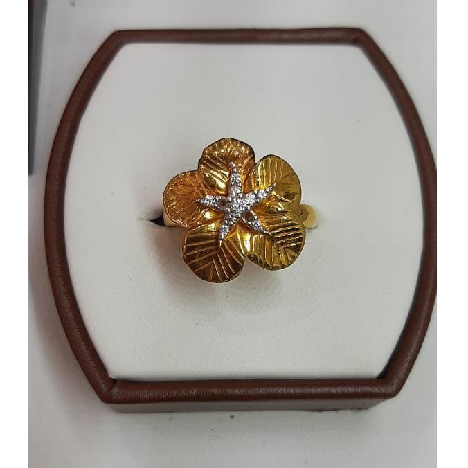 916 Gold Flower Design ring For Women MJ-R014