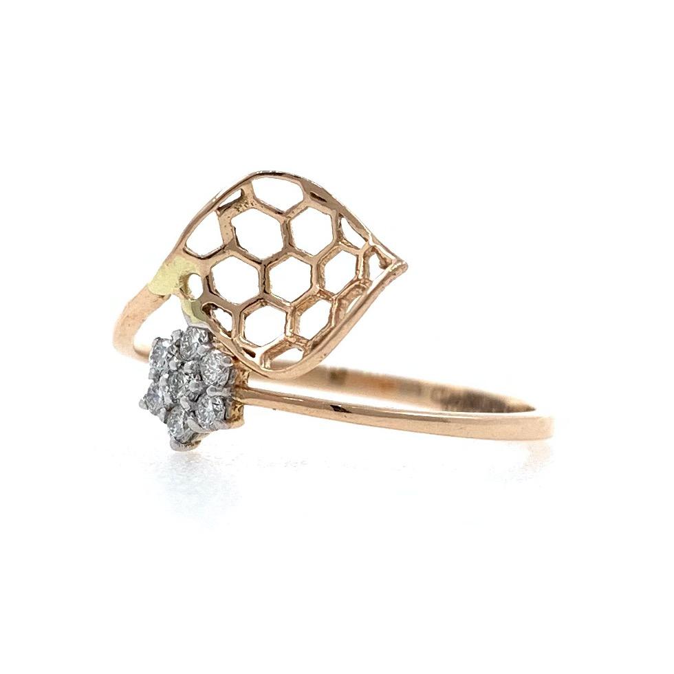 18kt / 750 rose gold delicate diamond ladies ring 9lr165